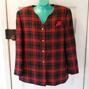 Vintage plaid John Meyer business jacket blazer